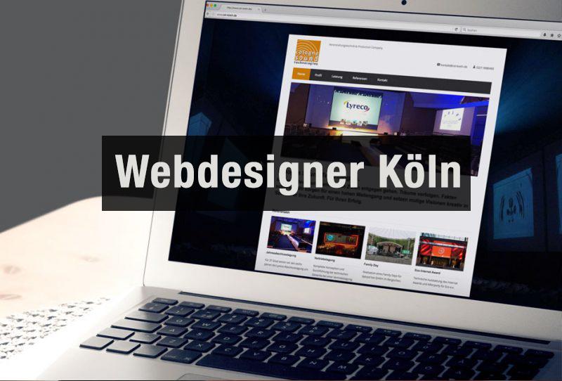 Laptop eines Webdesigners aus Köln