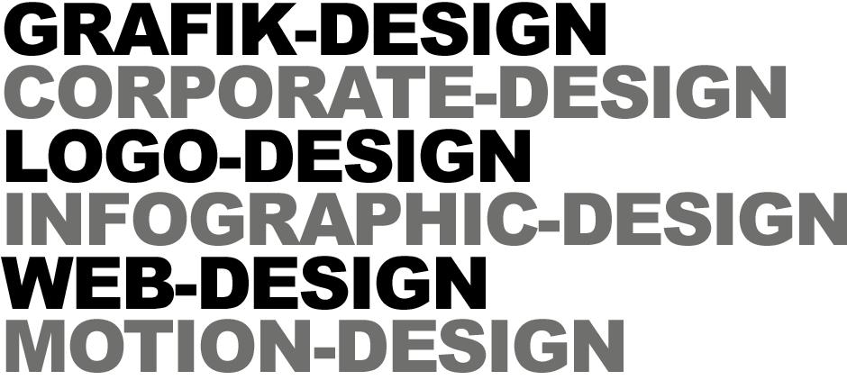 Grafikdesign, Corporate Design, Logodesign, Infografik Design, Webdesign, Motion Design