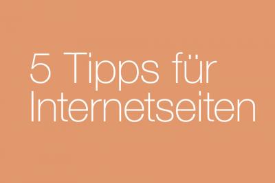 Web-Entwicklung: 5 Tipps für Internetseiten