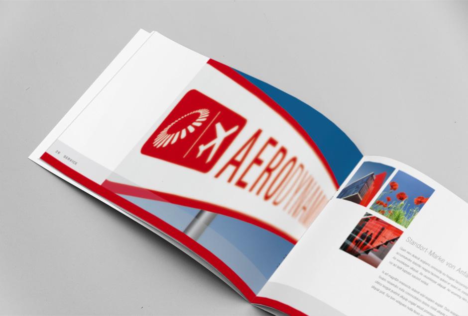 Salesfolder-Design eines Bauprojekts