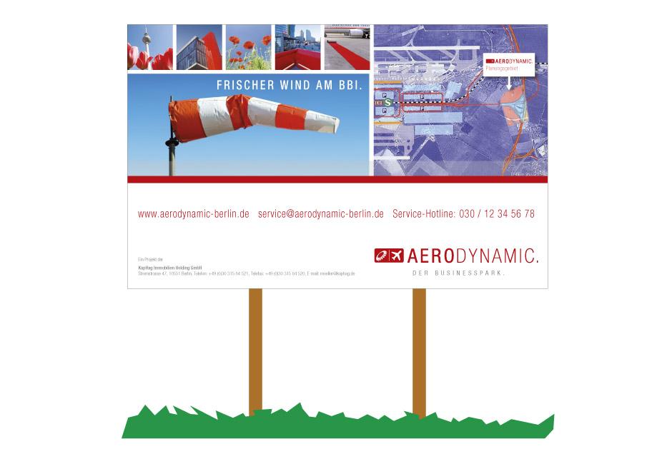 Bauschild Gestaltung von freien Art-Director Moritz Dunkel
