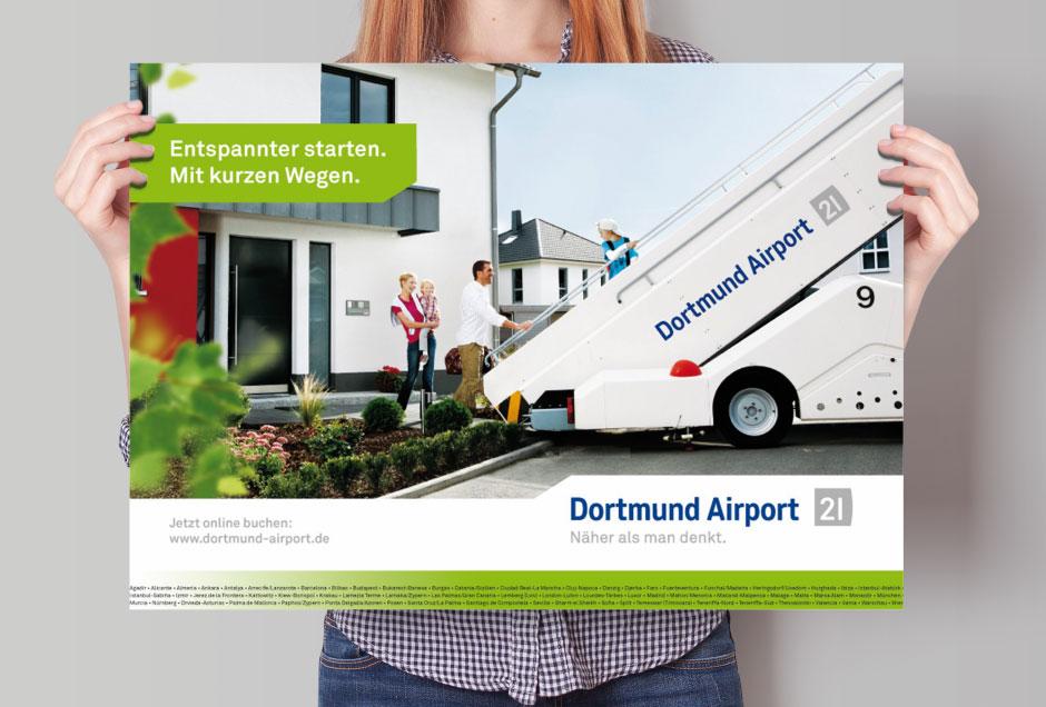 Flughafen Plakat-Gestaltung