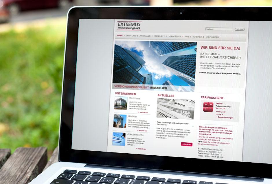 Webdesign für Extremus