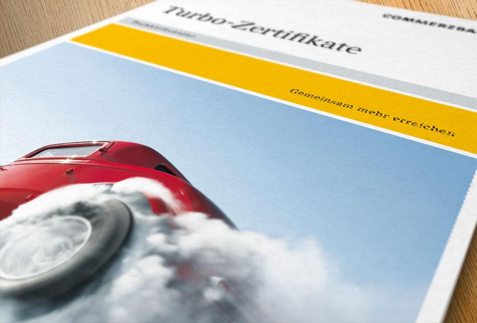 Mediendesign Imagebroschüre Commerzbank