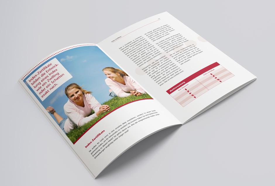 Visual-Design einer Broschüre