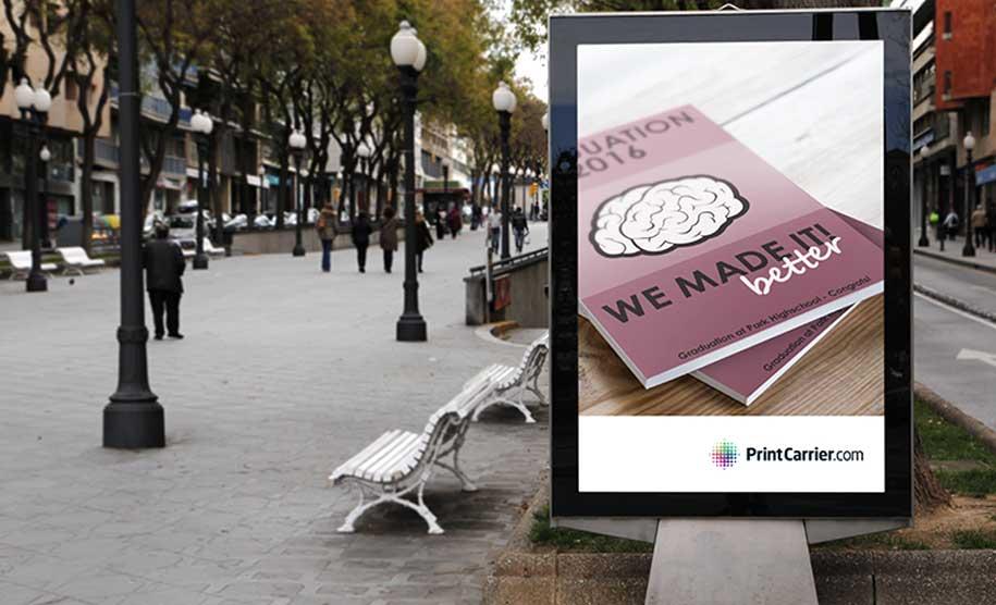 Logoplatzierung auf Flyern und Plakaten