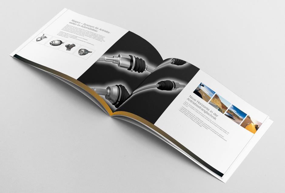 professionelles design fuer neapco europe imagebroschuere