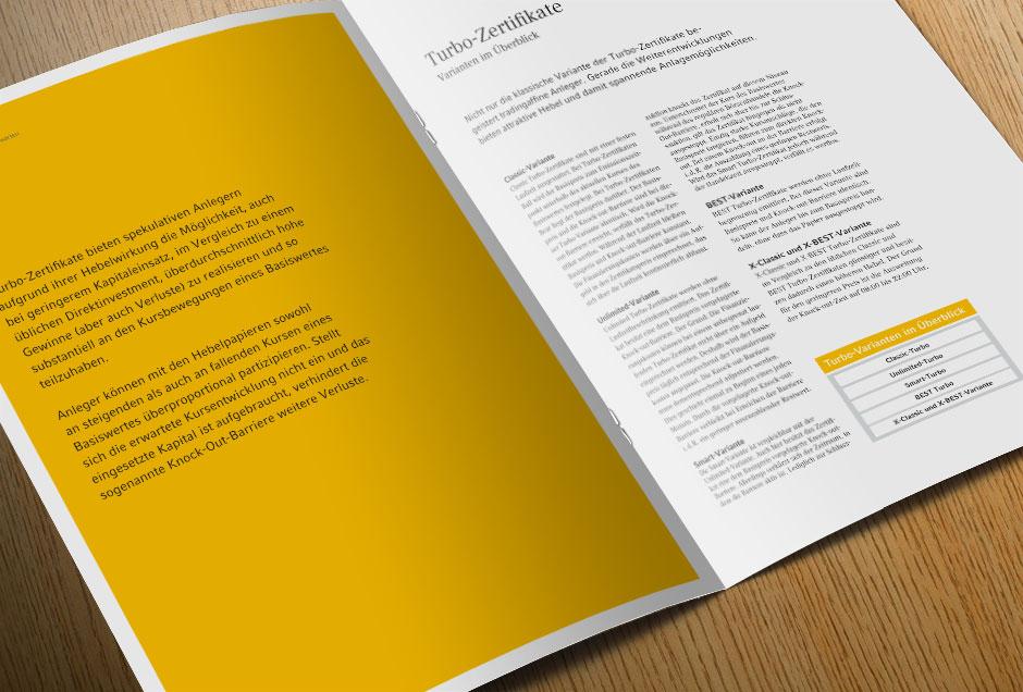 Design und Reinzeichnung Broschüre