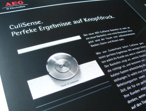 Werbebroschüre Design AEG