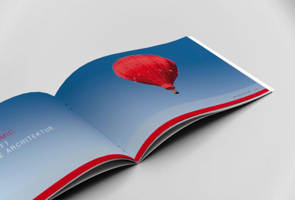 Visual Design einer Broschüre für ein Bauprojekt