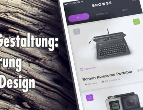 Online Shop Webdesign: Vorsprung durch Design
