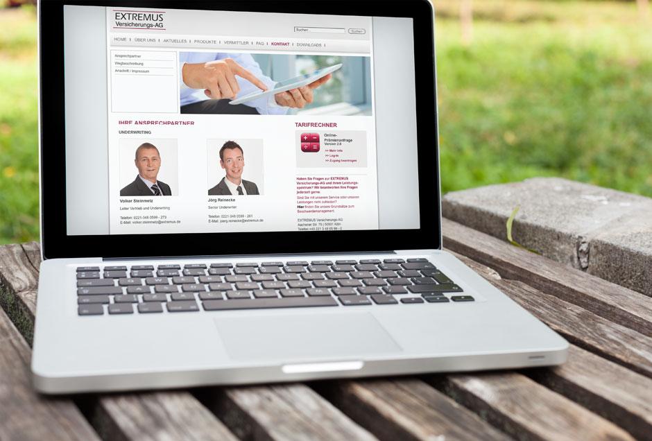 Neue Website für Versicherer Extremus