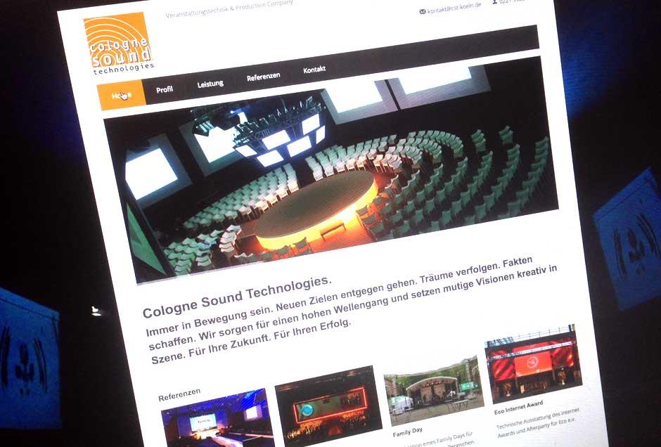 Veranstaltungstechniker Webdesign Köln