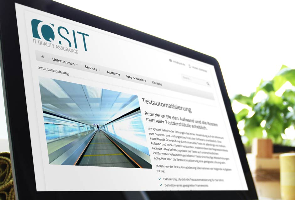 Webdesign für QSIT