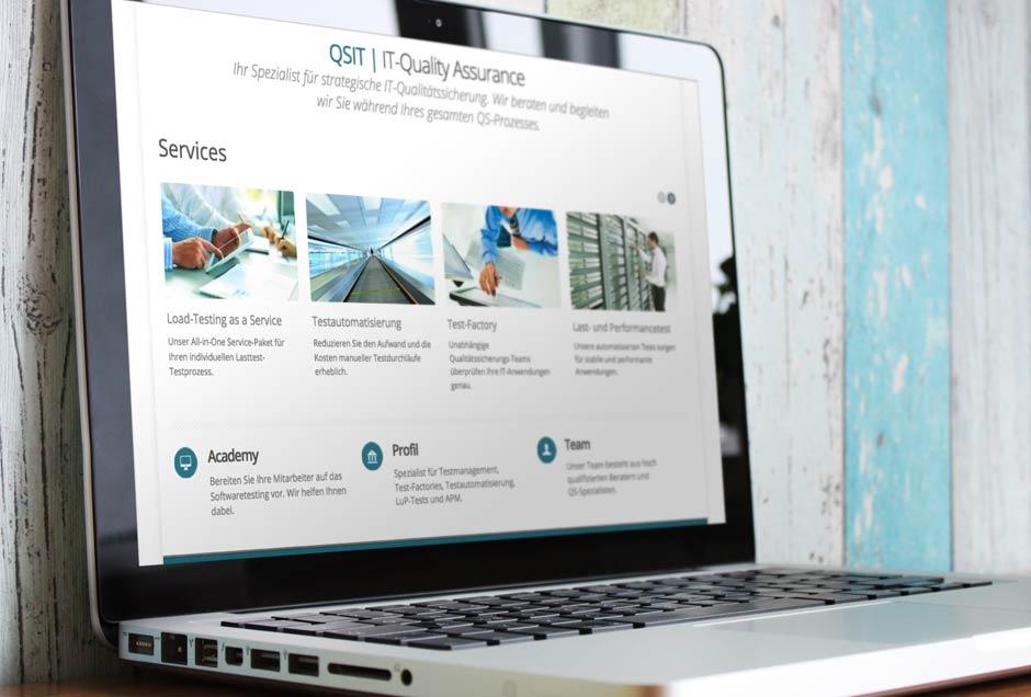 Neue Web-Gestaltung für IT-Qualitätssicherung