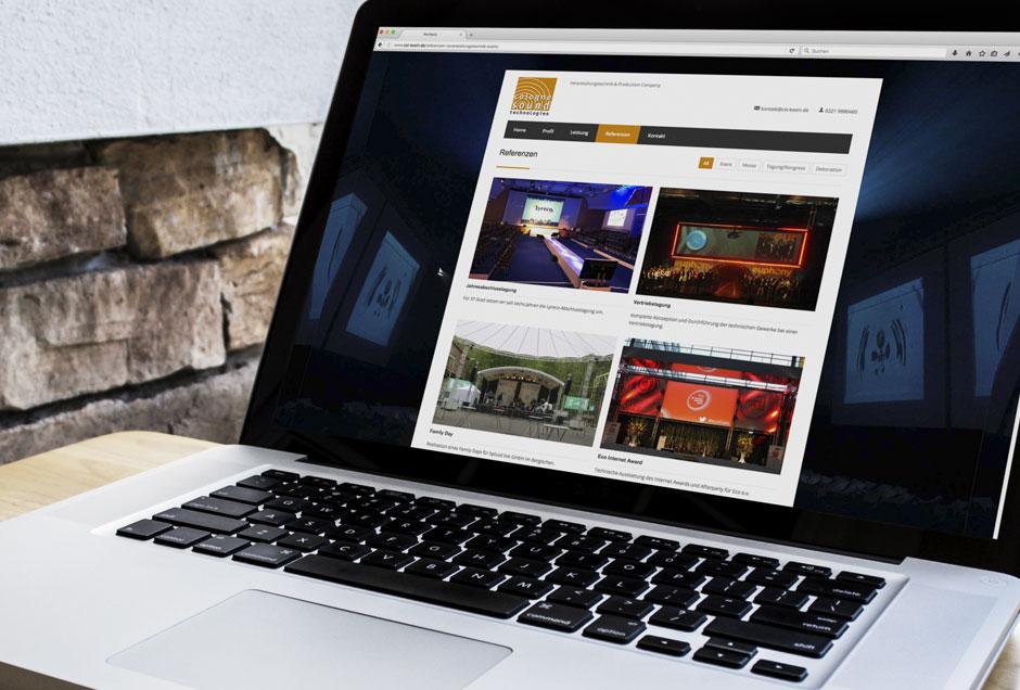 Neues Web-Design für den Veranstaltungstechniker