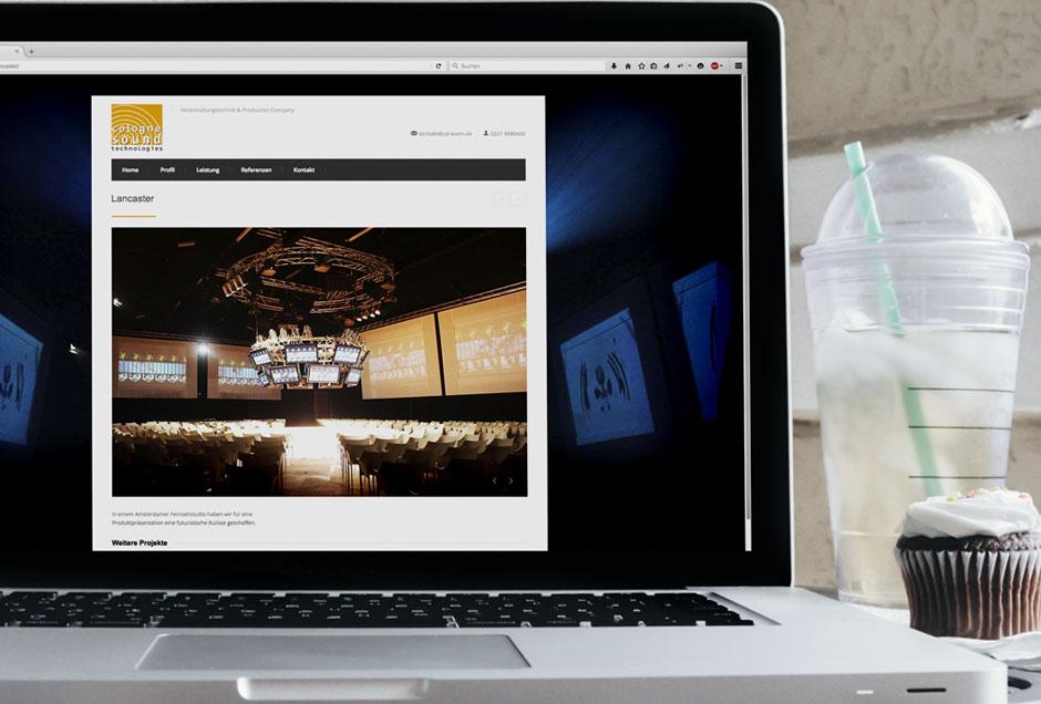 Neue Website für den Veranstaltungstechniker