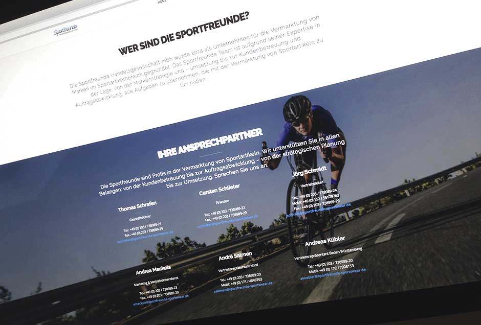 Neue Website für die Vertriebsgesellschaft