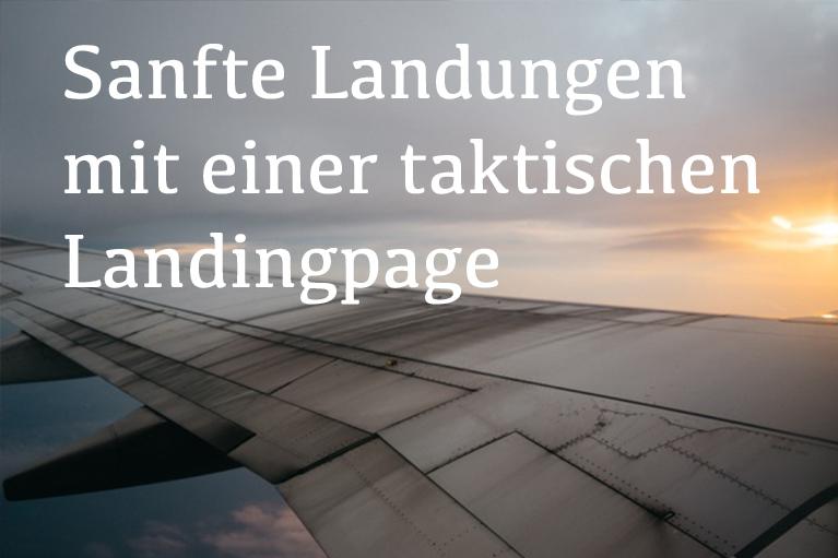 Eine Landingpage gestalten macht Sinn.