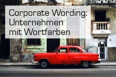 Corporate Wording