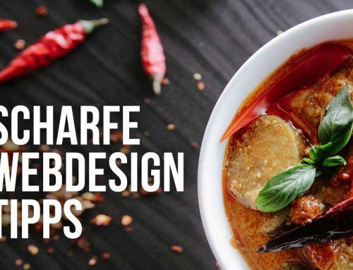 Richtig scharfe Webdesign Tipps