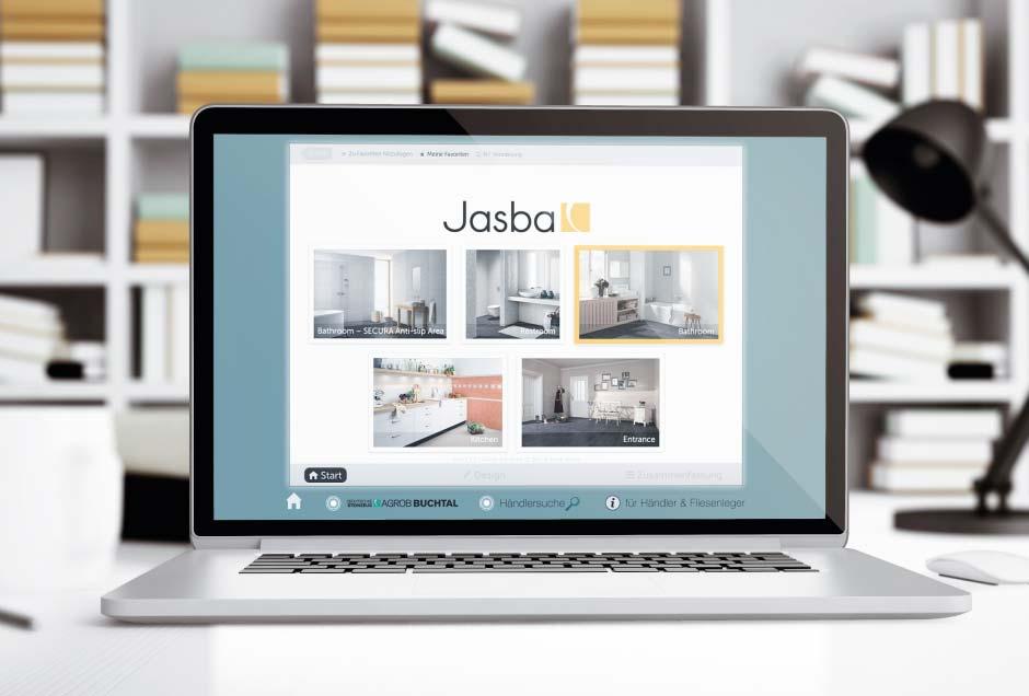 Webdesign von Moritz Dunkel für den Fliesenhersteller Jasba
