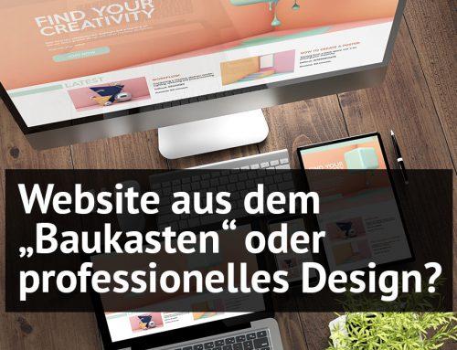 """Website aus dem """"Baukasten"""" oder professionelles Design"""
