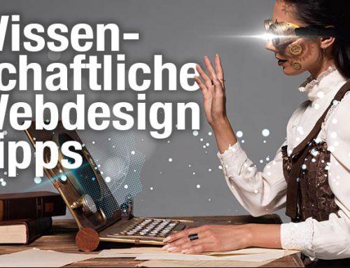 Wissenschaftliche Webdesign Tipps